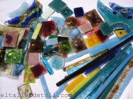 Teselas de vidrio para mosaiquismo o revestimiento