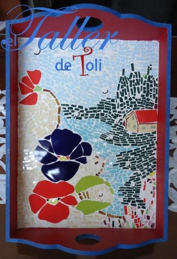 bandeja mosaiquismo salta clases flores venecitas azulejos toli taller cursos