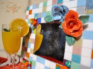 espejo salta mosaiquismo vitrofusion artesania arte flor clases cursos seminario