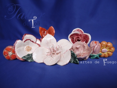 Flores de cerámica