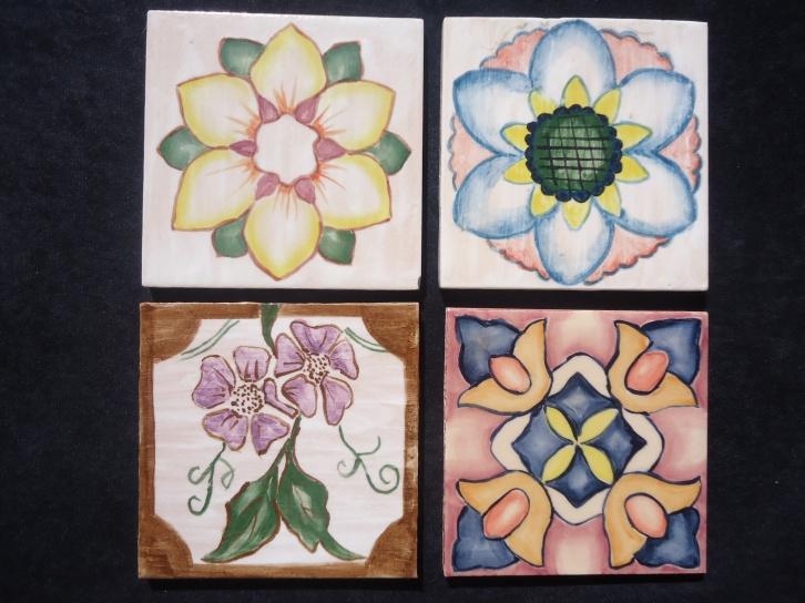 tocetos pintados a mano para revestimiento