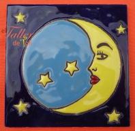 Luna y estrellas. Mayólica Artesanal