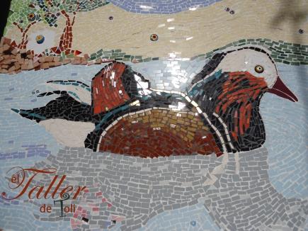 Pato Mandarín realizado por Toli en mosaiquismo