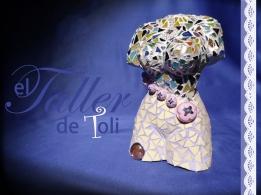 Escultura en ceramica de Toli, luego hecha mosaico