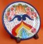 Plato estilo talavera mexicana esmaltado cerámico