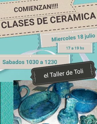 clases y seminarios cortos de cerámica