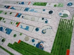 Guardas artesanales para baños en vitrofusión